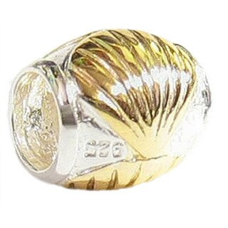 Queenberry Goldtone Sterling Silver Sea Shell European Bead Charm