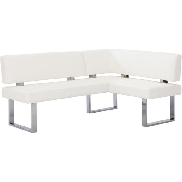 Dining Room Corner Bench: Shop Christopher Knight Home Leah White Nook Corner Dining