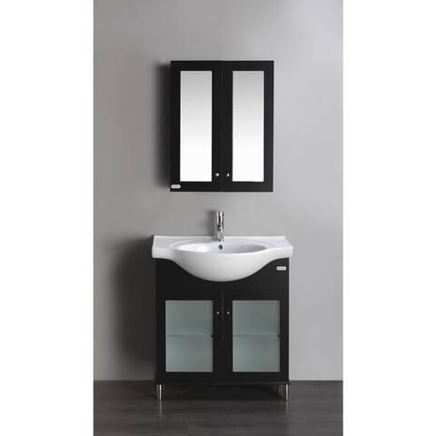 Eviva Tux 24-inch Single Bathroom Vanity in Espresso