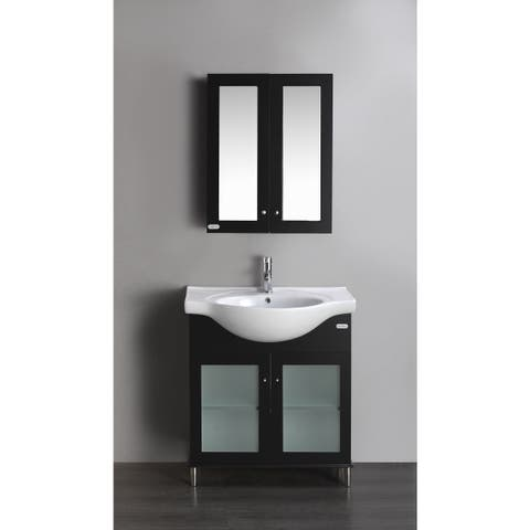 Eviva Tux 24-inch Single Bathroom Vanity in Espresso - Black