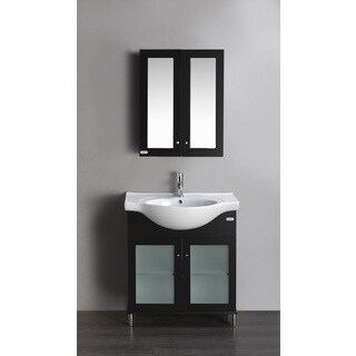 Eviva Tux 24-inch Single Bathroom Vanity in Espresso - Black