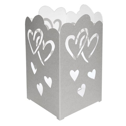Tabletop Paperboard Hearts Lantern (Set of 12)