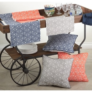 Tile Design Down Filled Decorative Throw Pillow