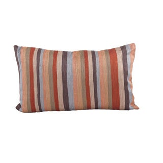 Striped Design Down Filled Decorative Throw Pillow