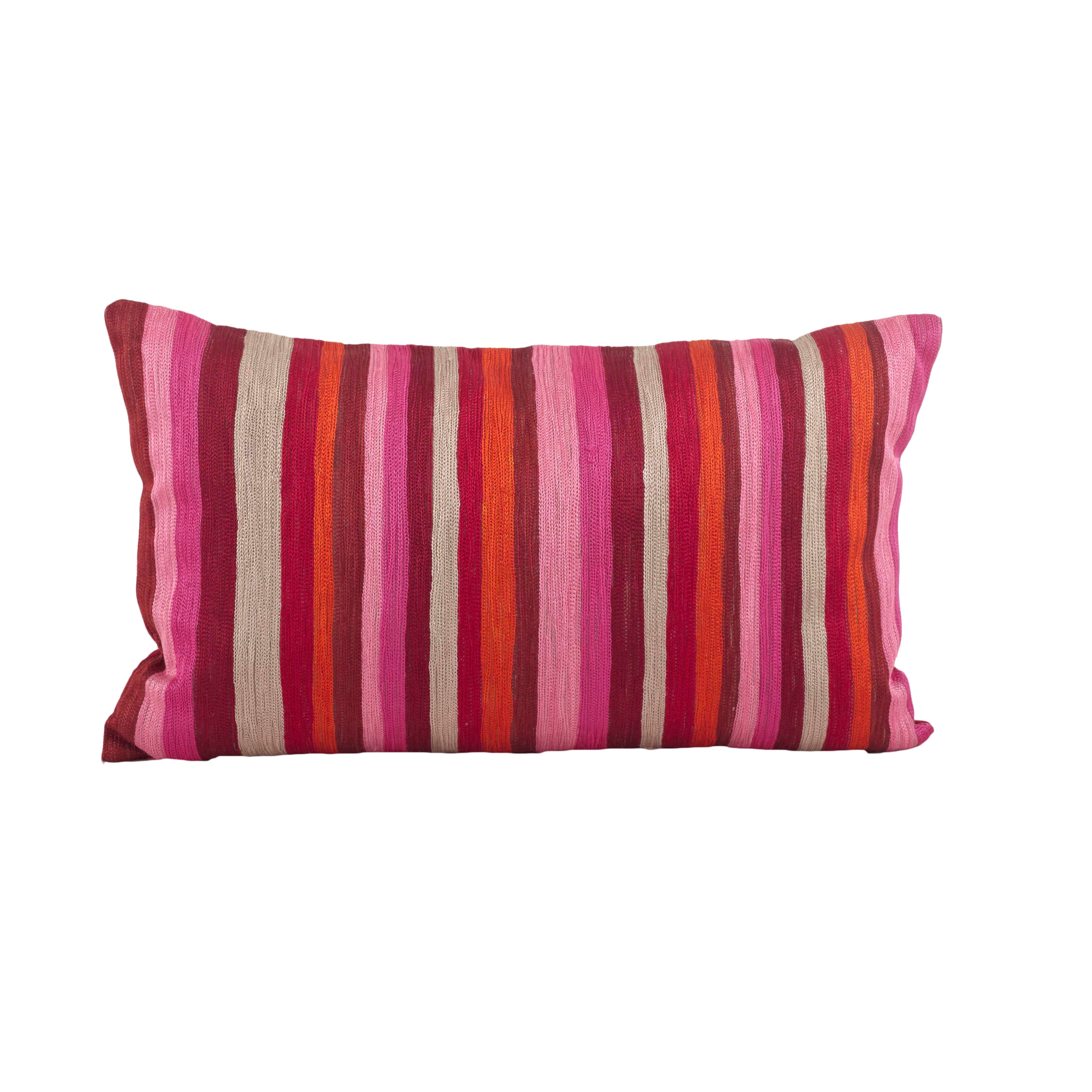 Striped Design Down Filled Decorative Throw Pillow Overstock 10084631 Sorbet