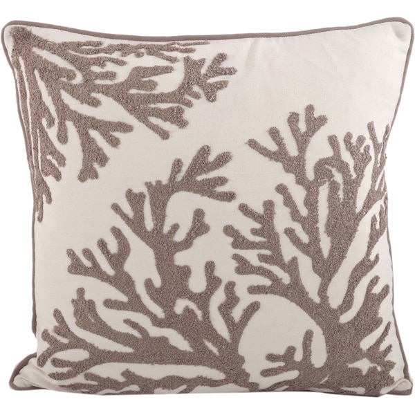 Decorative Pillows Down Filled : Coral Design Down Filled Decorative Throw Pillow - Free Shipping Today - Overstock.com - 17227731
