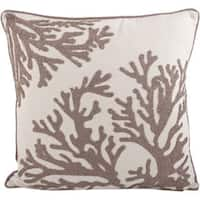Coral Design Down Filled Decorative Throw Pillow