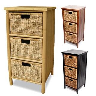 Heather Ann Bamboo 3-drawer Cabinet - 3raer