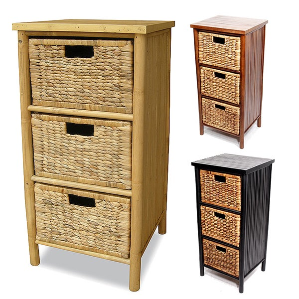 Heather Ann Bamboo 3 Drawer Cabinet   3raer