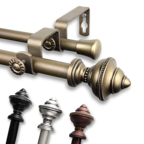 InStyleDesign Manor Adjustable Double Curtain Rod