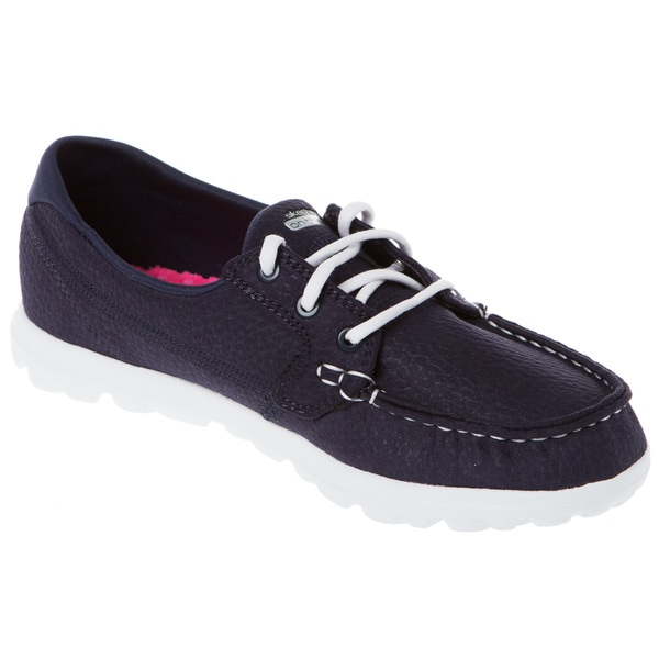 Shop Skechers Usa On The Go Cruise Leather Moc Toe Boat