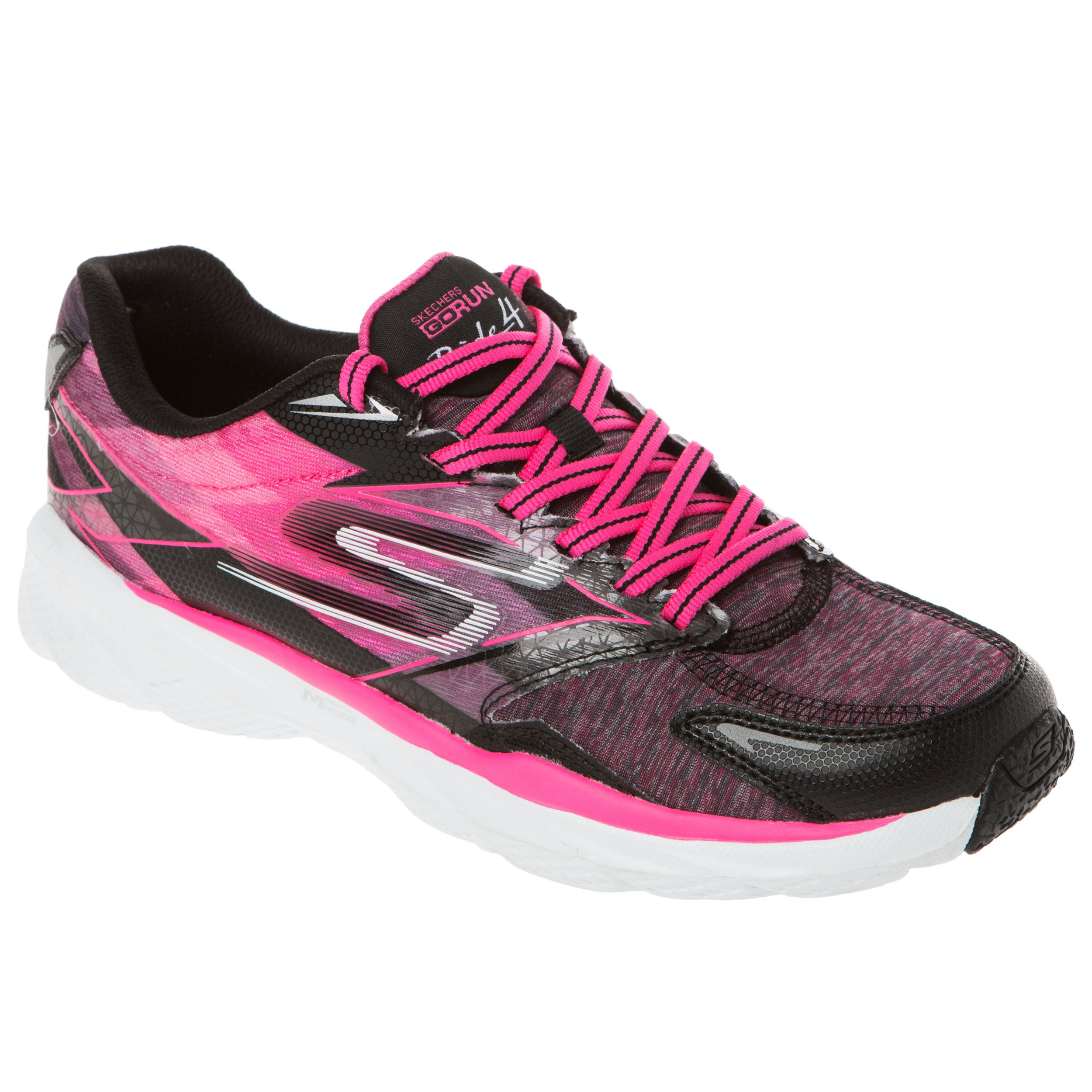 Skechers USA GO Run Ride 4 Excess Heathered Cushioned Running Sneaker