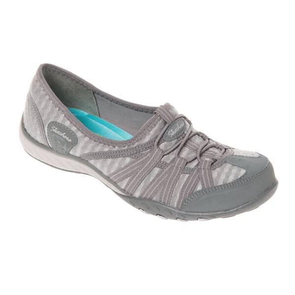 Shop Skechers Usa Active 22477 Grey Breathe Easy Basket