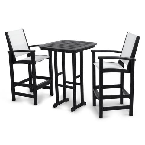 POLYWOOD® Coastal 3-piece Outdoor Tall Bar Set with Table