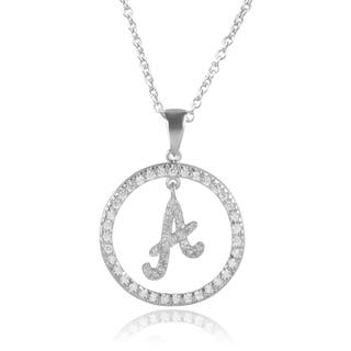Journee Collection Sterling Silver Cubic Zirconia Initial Pendants|https://ak1.ostkcdn.com/images/products/10084909/P17227918.jpg?impolicy=medium