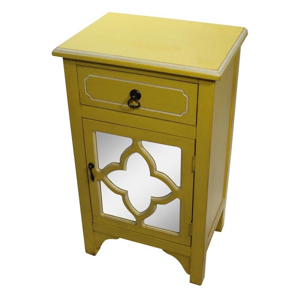 Heather Ann Single Drawer, Single Door Cabinet with Mirro...