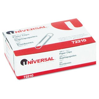 Universal Silver Paper Clips (20 Packs of 100)