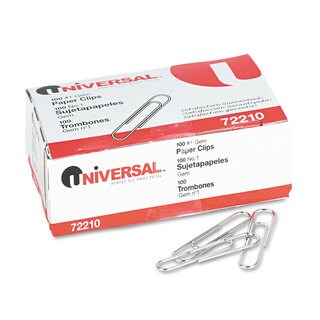 Universal Silver Paper Clips (7 Packs of 1000)