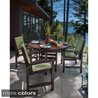 POLYWOOD Coastal 5-piece Outdoor Dining Set|https://ak1.ostkcdn.com/images/products/10084932/P17227923.jpg?impolicy=medium