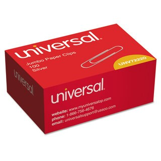 Universal Jumbo Smooth Silver Paper Clips (Case of 30)