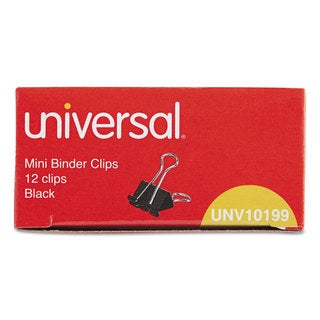 Universal Black/Silver Mini Binder Clips (20 Packs of 12)