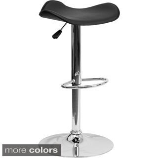 Contemporary Metal Adjustable-height Bar Stool (Option: Pink)