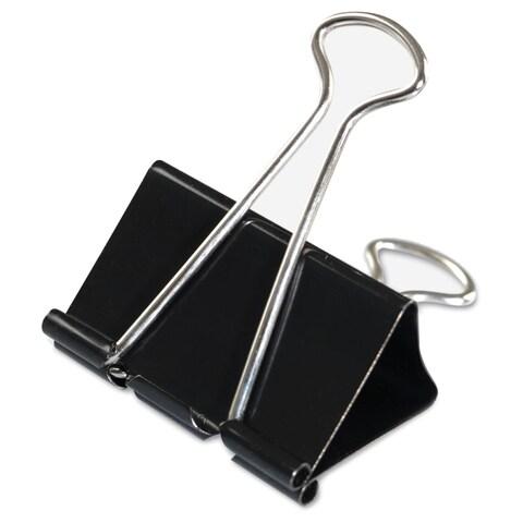 Universal Black/Silver Large Binder Clips (7 Packs of 12)