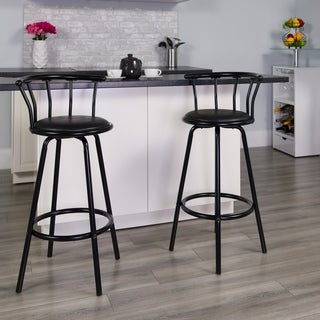 Black Contemporary Metal Bar Stool