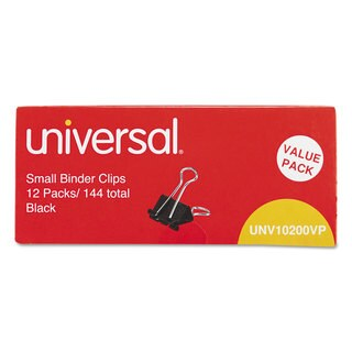 Universal Black/ Silver Small Binder Clips (Pack of 4)