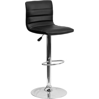 Adjustable-height Metal Contemporary Bar Stool