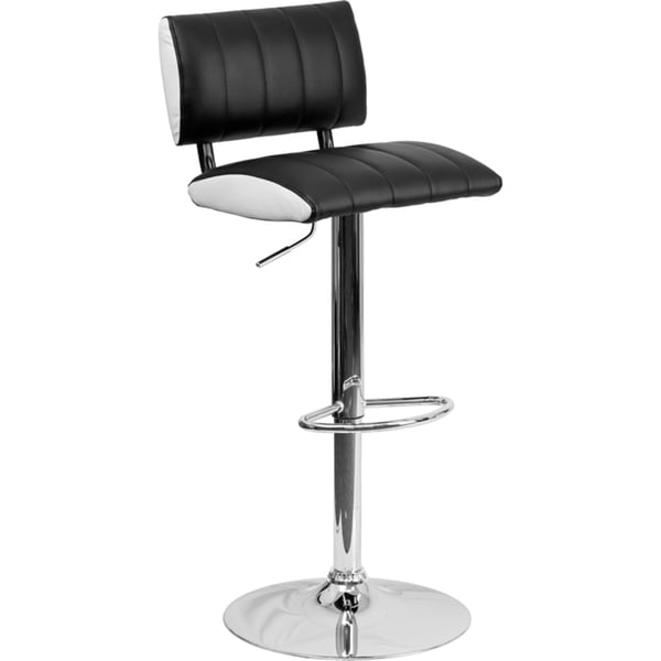 Adjustable-height Upholstered Swivel Bar Stool - Free Shipping Today ...