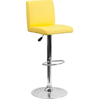 Adjustable-height Upholstered Contemporary Swivel Bar Stool