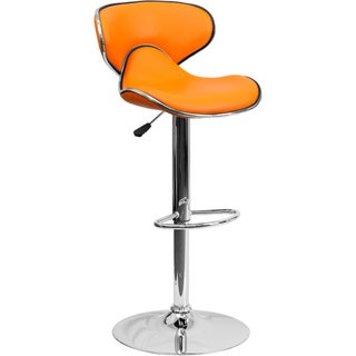 Round-back Contemporary Swivel Bar Stool