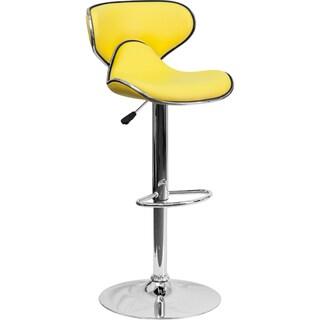 Round-back Contemporary Swivel Bar Stool