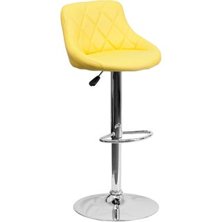 Diamond-tufted Upholstered Contemporary Bar Stool