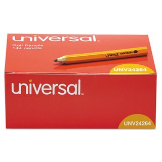 Universal Golf & Pew Yellow Pencils (Pack of 3)