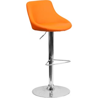 Upholstered Bucket Seat Contemporary Swivel Bar Stool