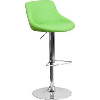 Upholstered Bucket Seat Contemporary Swivel Bar Stool