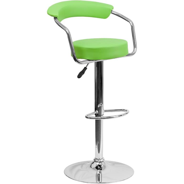 FLASH Furniture Upholstered Retro-style Swivel Bar Stool ...