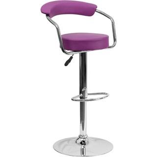 Upholstered Retro-style Swivel Bar Stool