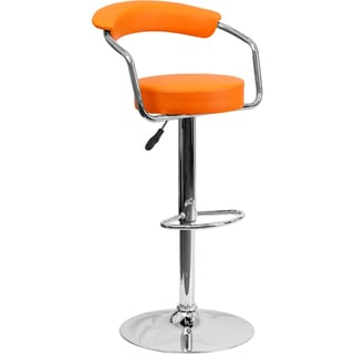 Upholstered Retro-style Swivel Bar Stool
