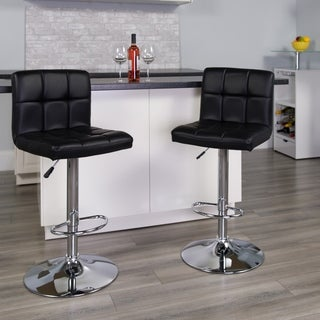Upholstered Swivel Accent Bar Stool