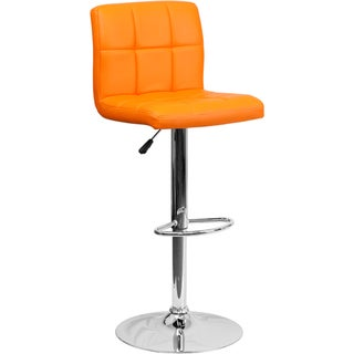 Upholstered Swivel Accent Bar Stool