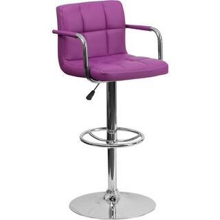 Clay Alder Home Ambassador Upholstered Contemporary Armrest Swivel Bar Stool