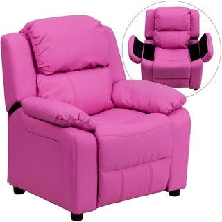 Kids Vinyl Upholstered Recliner