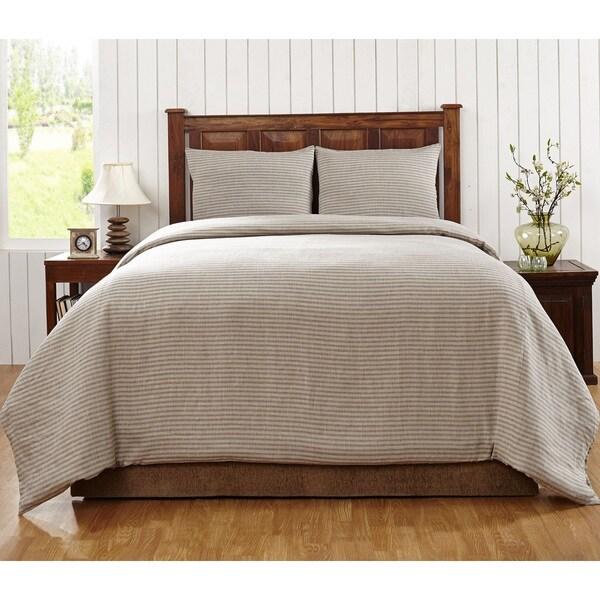 Florencia Stripe Linen 3-piece Duvet Cover Set