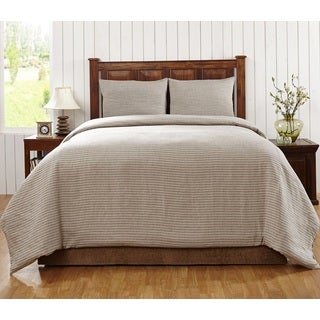 Florencia Stripe Linen 3-piece Duvet Cover Set