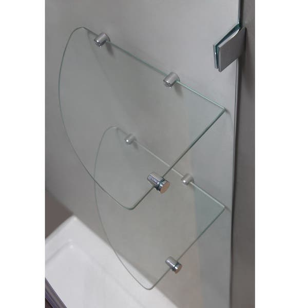 Aston Neoscape Gs 38 In X 38 In X 72 In Completely Frameless Neo Angle Shower Enclosure W Glass Shelves In Chrome Overstock 10085020