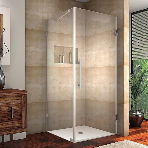 Aston Aquadica 30-in x 30-in x 72-in Completely Frameless Square Hinged Shower Enclosure in Chrome