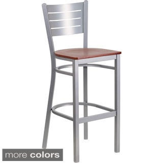 Silver Metal Restaurant Bar Stool
